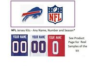 NFL Buffalo Bills Jersey Kit Custom Lettering ANY YEAR Name Number UNSEWN