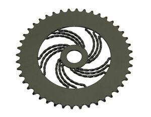 "Bicycle Triple Twisted Chainring Sprocket 1/8"" x 44T Cruiser Lowrider Bike Black"