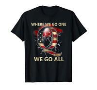 Where We Go One We Go All QAnon Letter Q USA Q Flag Black T-Shirt