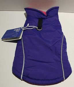 Gooby Dog Reflective Fleece Lined Sports Vest w/Leash Ring - SMALL BREED Sm