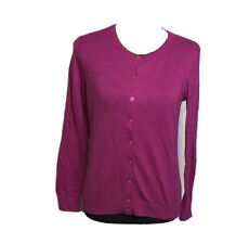 Talbots Women's Button Front Cardigan Size SP in Fuchsia