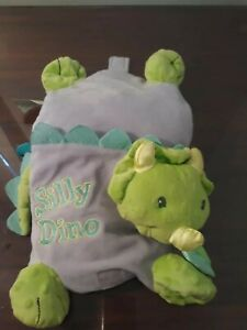 Silly Dino Triceratops Plush Book Rattle Vibrating Stuffed Baby Dinosaur Soft