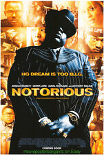 NOTORIOUS MOVIE POSTER Original DS 27x40 Intl. Version NOTORIOUS B.I.G. 2008 Bio