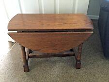 Vintage Oak Swivel Top Side Occasional Table
