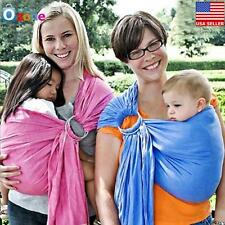 New Ergonomic Adjustable Infant Newborn Baby Carrier Ring Sling Wrap Pouch, Blue