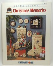 Christmas Memories Cross Stitch Pattern Chart Dimensions Stockings Ornaments 158