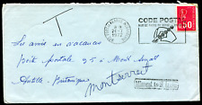 MARTINIQUE (19874) CODE POST missent St. LUCIA cancel/cover