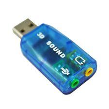External USB 2.0 5.1 CH 3D Sound Card Audio Adapter A5Q5