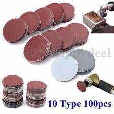 100Pcs 2'' 50mm Sanding Disc 80-3000 Mixed Grit Sander Polishing Pads Sandpaper