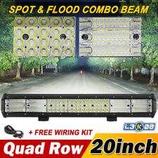 """QUAD ROW 20INCH 2016W PHILIPS LED Work Light Bar Combo Offroad 4x4WD Driving 23"""""""