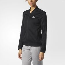Women's adidas Tricot Snap Jacket Color Black Size X-large