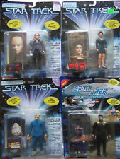 Lot of 4 Star Trek Playmates Carded NEW action figures Seska Vash Tom P. Geordi