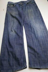 Diesel Quratt Italian Made Straight Men's 36x30 Dark Wash Button Fly Blue Jeans
