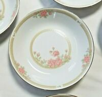 "CROWN MING Christina Cereal Bowls 7-1/2"" Jian Shia Pink, Mint Set of Four (4)"