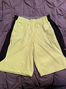 Nike Dri Fit Mens Training Shorts Volt Color Medium