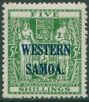 Samoa 1935 SG190 5s green Arms WESTERN SOMOA. ovpt MLH