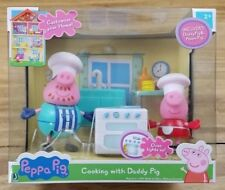 """Peppa Pig """"Cooking with Daddy Pig"""" PlaySet Furniture & Figures Lights Up NEW"""