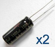 2x condensateur PANASONIC FJ 6.3V 1500uF Aluminium High quality radial capacitor