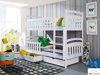 Kinder etagenbett paint hochbett farbiges bett stockbett - Kinderbett doppel ...