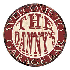 Cpgb-0101 Welcome Danny'S Garage Bar Rustic Chic Tin Sign Man Cave Decor Gift