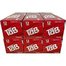 Lot of (6) Tab Soda 12-Pack Soft Drinks Tab Coca-Cola | Exp: July 5th, 2021