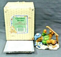 1997 ENESCO Cherished Teddies #269743 SPENCER I'm Head Over Skis For You VINTAGE