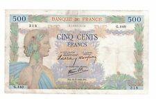 FRANCE 500 FRANCS 16-5-1940 ( #391)