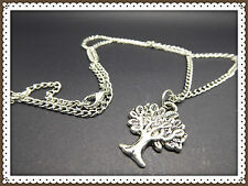 Tree Of Life Pendant Necklace,Link Chain,Great Gift Idea,Antique SilverColoured