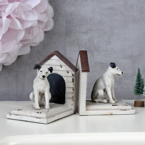 Bookends Dog Figurine His Masters Voice Dog Nipper Figurine Book Stand Terrier