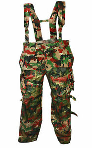Genuine Swiss Army M70 Heavy Cotton Pants Alpenflage Camo Combat Trousers Used