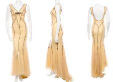 NWT Dolce & Gabbana Silk Crystal Evening Dress Gown sz 38 US 2 $7995 Red Carpet