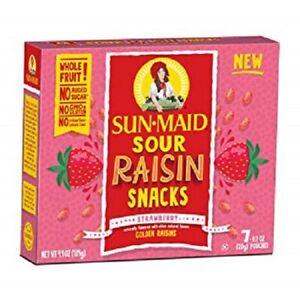 Sun Maid Sour Raisin Snacks Strawberry