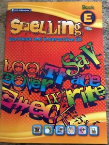 RIC Publications My Spelling Workbook Book E 9-10yrs NEW FREE POST
