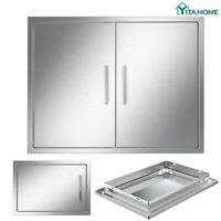 YITAHOME OUTDOOR KITCHEN / BBQ ISLAND STAINLESS STEEL DOUBLE SINGLE ACCESS DOOR