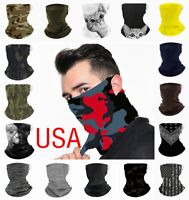 MultiUse Face Mask Shield Bandana Reusable Washable Covering Scarf Neck Gaiter