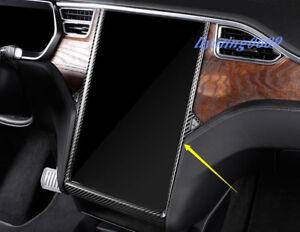 Real Carbon Fiber GPS Navigation Frame Cover Trim For Tesla Model X S 2014-2018