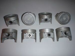 MADE IN USA 8pc Set Pistons & Pins .030 size 1968-1980 Oldsmobile 350 V8 OLDS