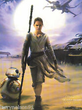 BB-8 REY POSTER STAR WARS THE FORCE AWAKENS DAISY RIDLEY 00A