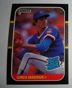 1987 DONRUSS #36 GREG MADDUX RATED ROOKIE CARD NRMT