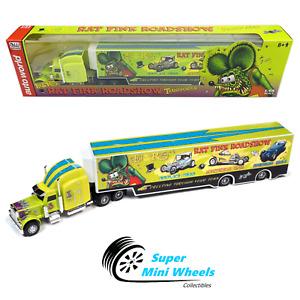 Auto World 1:64 - Rat Fink Roadshow Transporter - Lime Green w/ Rat Fink