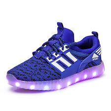 New USB  Boys Girls 7 Colors shoes Luminous Sneakers  Light Up Kids LED Shoes
