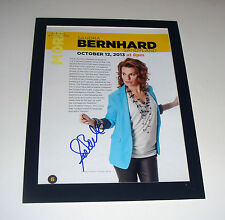 Sandra Bernhard Signed Color Program Page Oct 12, 2013 COA Matted 9X12 FREE SHIP