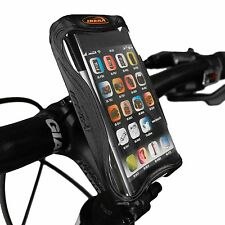 Ibera Bike Black Handlebar Phone Case & Cycling Adjust Stem Mount NEW IB-PB9Q4BK