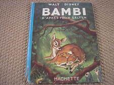 BAMBI DISNEY 1948 LIBRO HACHETTE FRANCIA PRIMA EDIZIONE