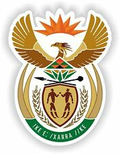 South Africa Coat of Arms sticker bumper decal Car Helmet Aufkleber bike moto