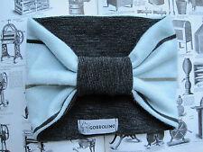 BLUE STRIPE 1950S VTG RETRO ROCKABILLY HEAD BAND TURBAN HAIRBAND