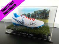 ✺Signed✺ CLAYTON OLIVER Football Boot COA Melbourne Demons AFL 2020 Jumper