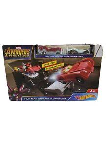 Hot Wheels Marvel Avengers Iron Man Armo-up Launcher set NIB