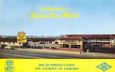Berkeley California~Golden Bear Motel~Restaurant~1950s Cars~Postcard