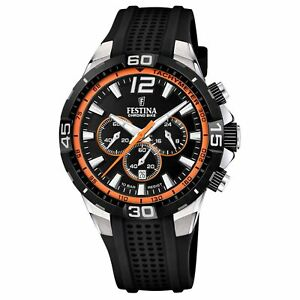 Festina F20523-2 Men's Chrono Bike Orange Detail Wristwatch